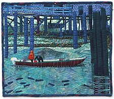 Fisherman's Wharf by Pamela Allen (Fiber Wall Art)