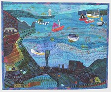 Harbor Grace by Pamela Allen (Fiber Wall Art)