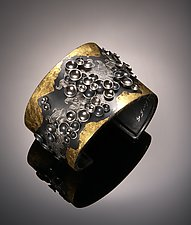 Oriental Hill Series Cuff by So Young Park (Gold & Silver Bracelet)