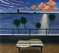Sunset Over Longboat Key by Scott Kahn (Paintings & Drawings Oil Paintings)