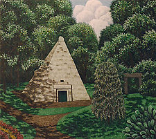 Pyramid Parc Monceau by Scott Kahn (Oil Painting)