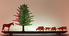 Horse of a Different Color by Bernie Huebner and Lucie Boucher (Art Glass Sculpture)