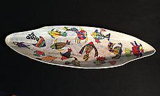 Fish Palm Vessel by Jean Elton (Ceramic Vessel)