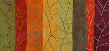 Eight Branchlets by Janet Steadman (Fiber Wall Art)