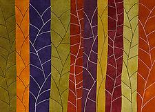 Ten Branchlets by Janet Steadman (Fiber Wall Art)