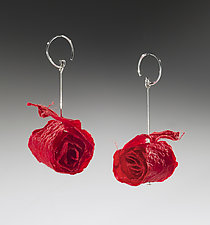 Joomchi Curl Earrings by Nancy Raasch (Silver & Paper Earrings)