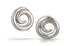 Large Swirl Earrings by Shana Kroiz (Silver Earrings)