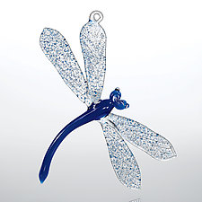 Blue Dragonfly by Loy Allen (Art Glass Ornament)