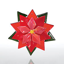Poinsettia by Denise Bohart Brown (Art Glass Ornament)