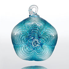 Winter's Bloom by Julian Duerksen (Art Glass Ornament)