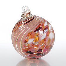 Tiger Lily by Loretta Eby (Art Glass Ornament)