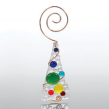 Bejeweled Tree by Julie Gatley (Art Glass Ornament)