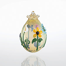Secret Garden by Lucky Ducks Glass (Art Glass Ornament)