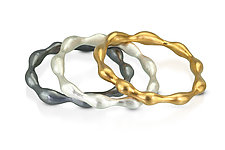 Solid-Toned Pod Bangle by Shana Kroiz (Gold & Silver Bracelet)
