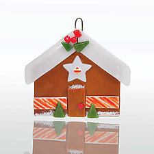 Gingerbread House by Terry Gomien (Art Glass Ornament)