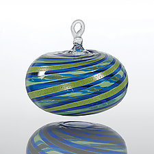 Coastline by Theo Keller (Art Glass Ornament)