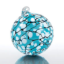Snowdrops by Thomas Kelly (Art Glass Ornament)
