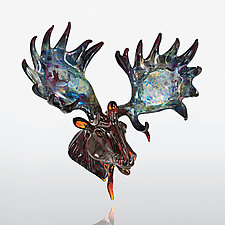 Mystic Moose by Paul Labrie (Art Glass Ornament)
