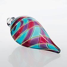 Blue Raspberry Twist by Fritz Lauenstein (Art Glass Ornament)