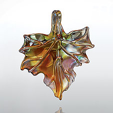 Maple Shimmer by Jacqueline McKinny (Art Glass Ornament)
