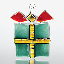 All Wrapped Up by Sharon McNamara and Paul Palango (Art Glass Ornament)
