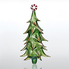 O Tannenbaum by Jansi Glass (Art Glass Ornament)