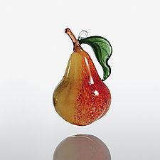 Forelle Pear by Margaret Neher (Art Glass Ornament)