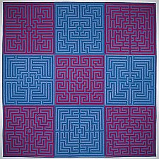 Labyrinth #5 by Ellen Oppenheimer (Art Quilt)