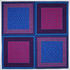 Labyrinth #8 by Ellen Oppenheimer (Art Quilt)