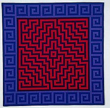Labyrinth #10 by Ellen Oppenheimer (Art Quilt)
