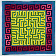 Labyrinth #12 by Ellen Oppenheimer (Art Quilt)