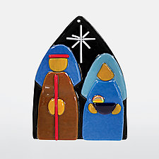 Holy Night by Anne Nye (Art Glass Ornament)