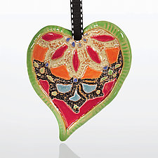 Quilted Heart by Laurie Pollpeter Eskenazi (Ceramic Ornament)