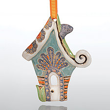 Home Sweet Home by Laurie Pollpeter Eskenazi (Ceramic Ornament)