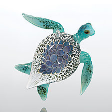 Sea Turtle by Bryan Randa (Art Glass Ornament)