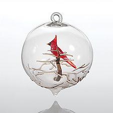 Cardinal by Steve  Scherer (Art Glass Ornament)