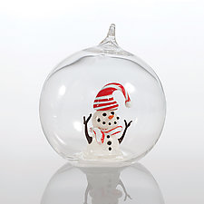 Winter Wonder Man by James and Andrea Stanford (Art Glass Ornament)