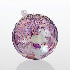 Purple Rain by Tom Stoenner (Art Glass Ornament)