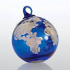 One World by Glass Eye Studio (Art Glass Ornament)