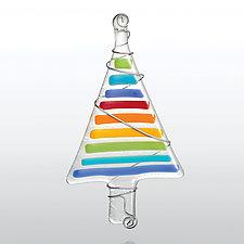 Pop Tree by Glassworks Northwest (Art Glass Ornament)