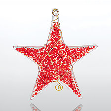 Sprinkle Star by Glassworks Northwest (Art Glass Ornament)