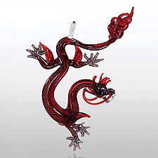 Chinese Dragon by Milon Townsend (Art Glass Ornament)
