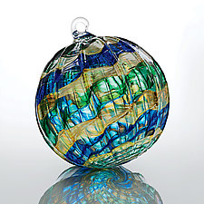 Sargasso Sea by Christian Turiello (Art Glass Ornament)