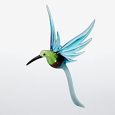 Aventurine Hummingbird by WGK Glass (Art Glass Ornament)