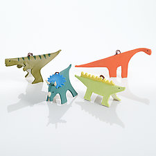 Jurassic Set by Beth DiCara (Ceramic Ornaments)
