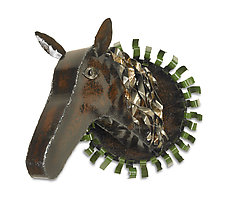 Champion Horse by Ben Gatski and Kate Gatski (Metal Wall Sculpture)