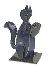 Squirrel by Ben Gatski and Kate Gatski (Metal Sculpture)