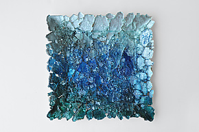 Reclaimed Glass Wall Art by Mira Woodworth (Art Glass Wall Sculpture)