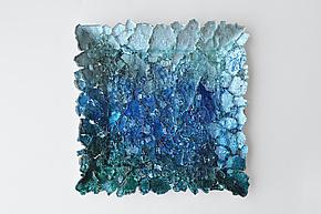 Reclaimed Glass Wall Art by Mira Woodworth (Art Glass Wall Sculpture)