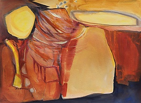 Canyon Wind by Sandra Humphries (Watercolor Painting)